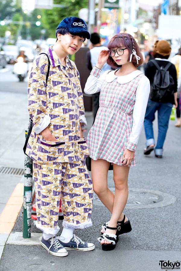 Harajuku Girl in Glasses w/ Minplume vs. Harajuku Guy w/ Pin Nap & Sackpack