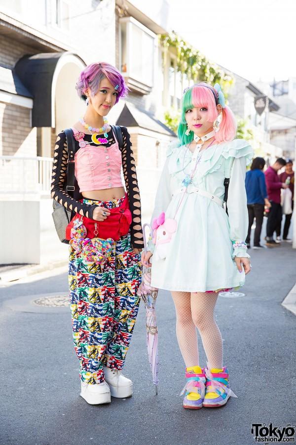 Kawaii Harajuku Styles w/ Pastel Hair, 6%DOKIDOKI, Cosmic Magicals & My Melody