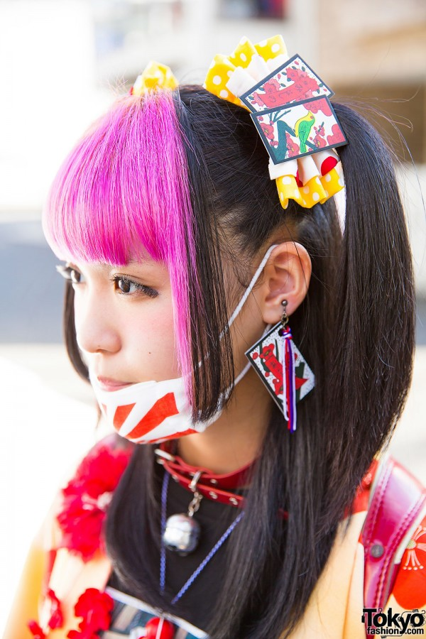 Pink Bangs & Colorful Hair Accessories