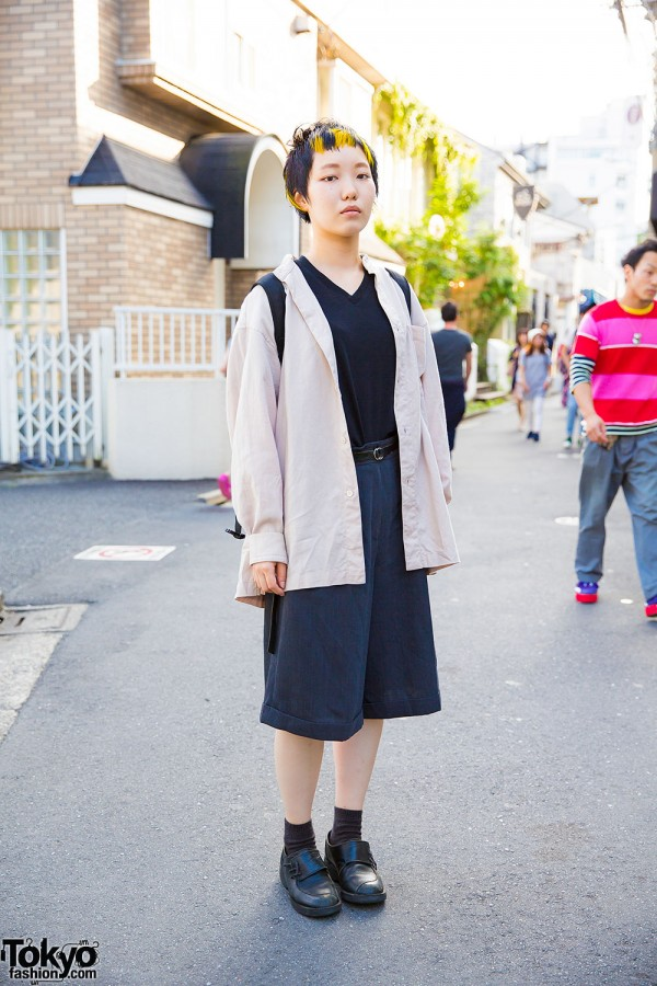 Harajuku Girl w/ Short Hairstyle in Issey Miyake, Yohji Yamamoto, Uniqlo & Resale Items