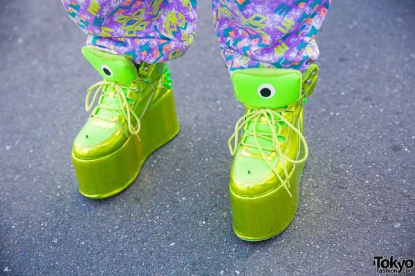 YRU Neon Platform Shoes – Tokyo Fashion