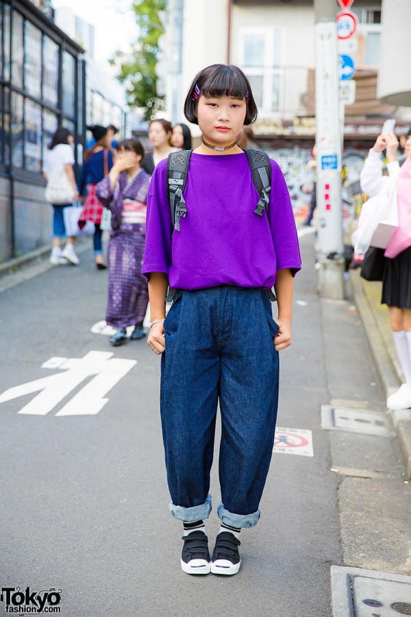 Harajuku Girl w/ A.D.G. Top, Candy Stripper Jeans & Panama Boy Accessories