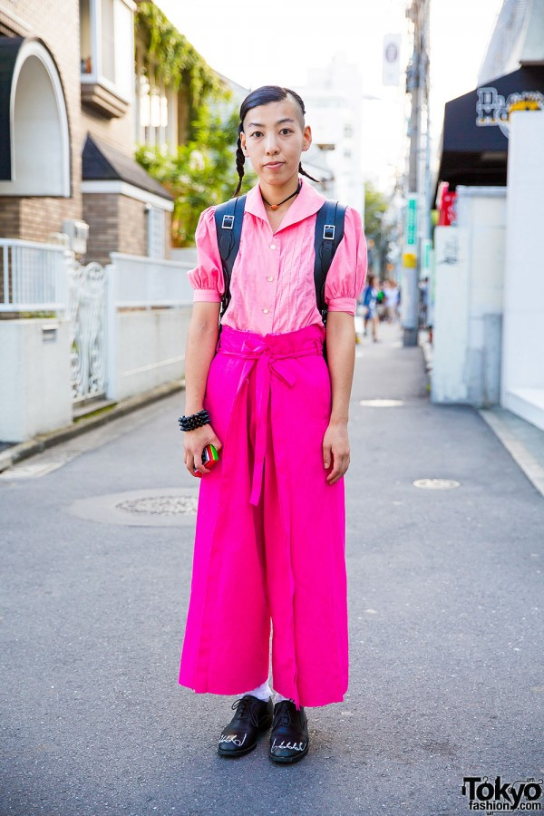 Harajuku Hair Stylist in Pink w/ Comme Des Garcons Bare Feet Shoes & Resale Items