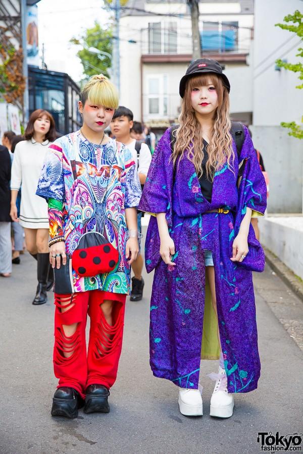 Colorful Outfits w/ Kimono, Dog Harajuku, Demonia, Cayhane, Handmade & Resale Items