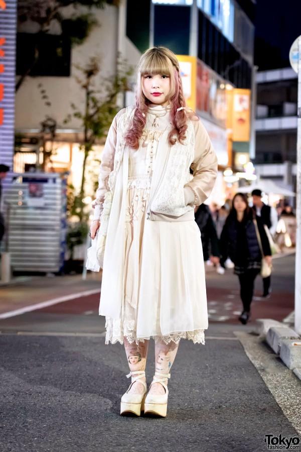 Vintage Layered Harajuku Street Style