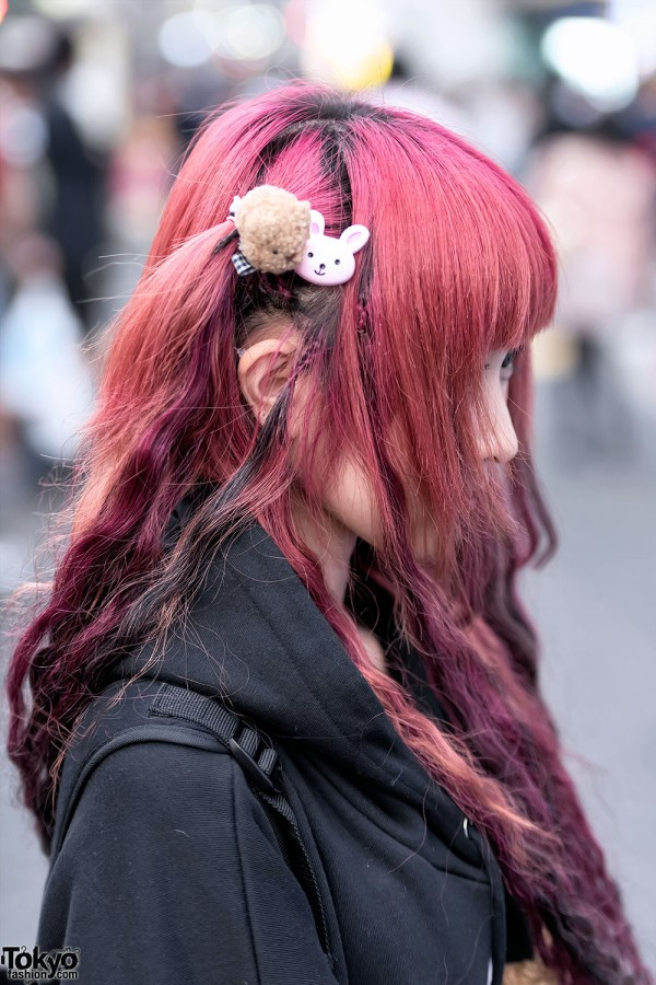 Cute Hair Clips in Harajuku