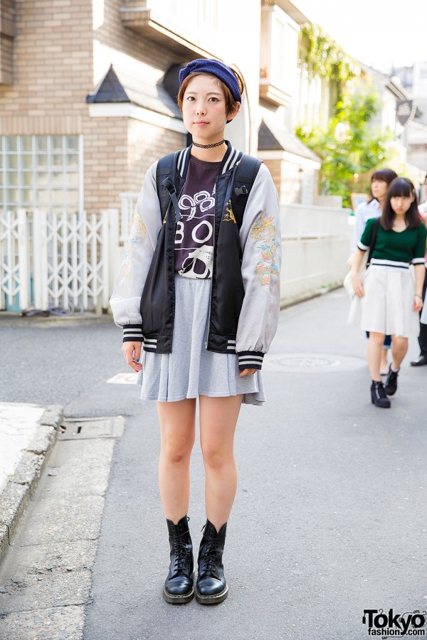 Harajuku Girl In Oversized Sukajan Jacket Boy London Amp Dr