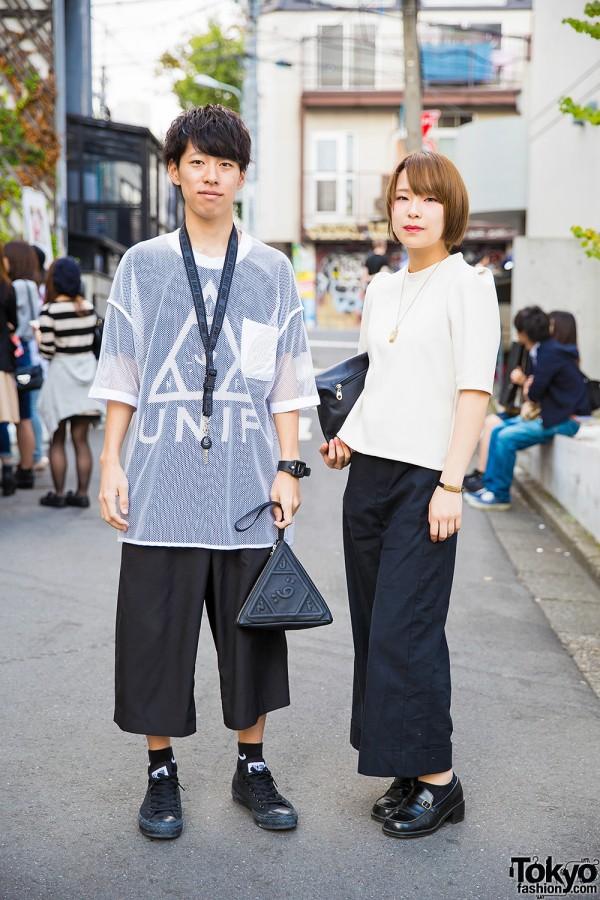 Harajuku Duo in Black & White Fashion w/ M.Y.O.B. NYC, UNIF, Marc by Marc Jacobs & Converse