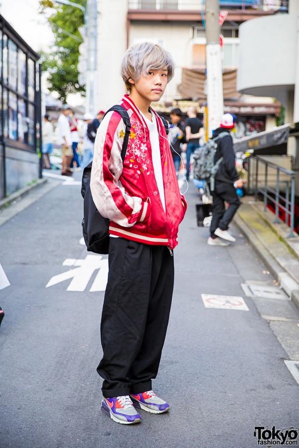 Harajuku Guy in Japanese Souvenir Jacket, Yohji Yamamoto & Never Mind the XU