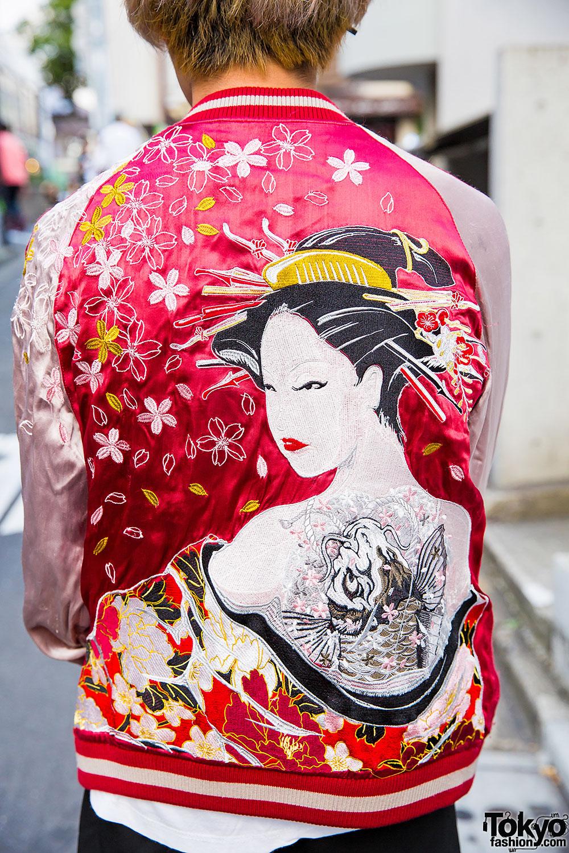 Harajuku Guy In Japanese Souvenir Jacket Yohji Yamamoto