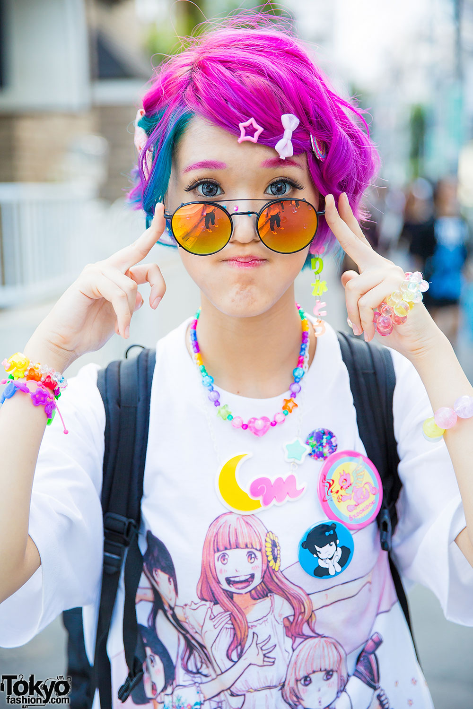 Harajuku Girl W Colorful Hair Dempagumi Inc Dress 6