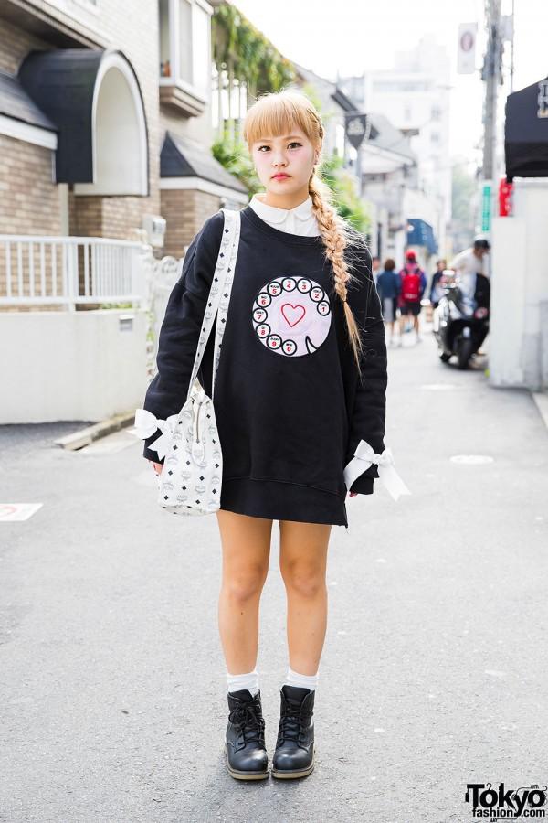 Bubbles Harajuku Sweatshirt, Barbie Nail Art, MCM Bag & Resale Boots