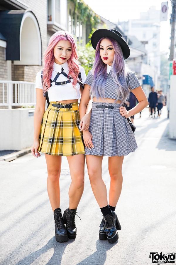 Style Bloggers Francis Lola & Ellen V Lora in Harajuku w/ Deandri & Skinnydip London