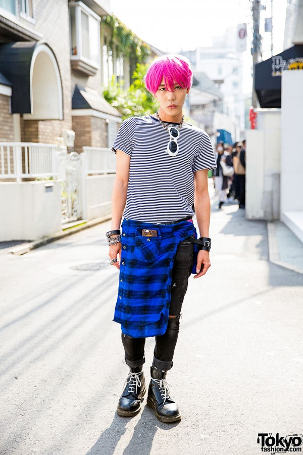 The Symbolic Tokyo Designer w/ Pink Hair, Saint Laurent & Chrome Hearts