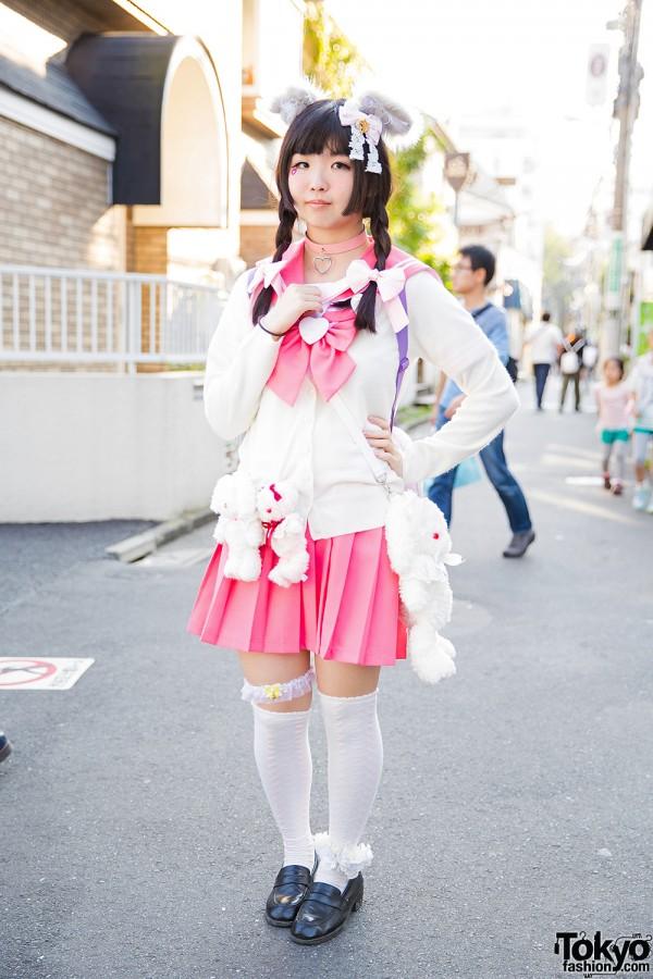 Japanese Sailor Uniform & Furry Ears