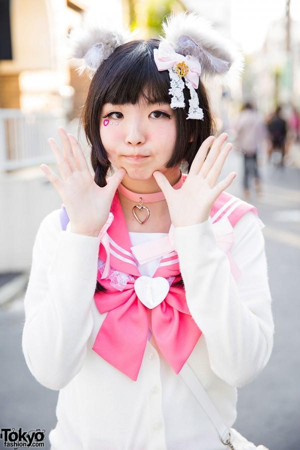 Cute Sailor Uniform in Harajuku