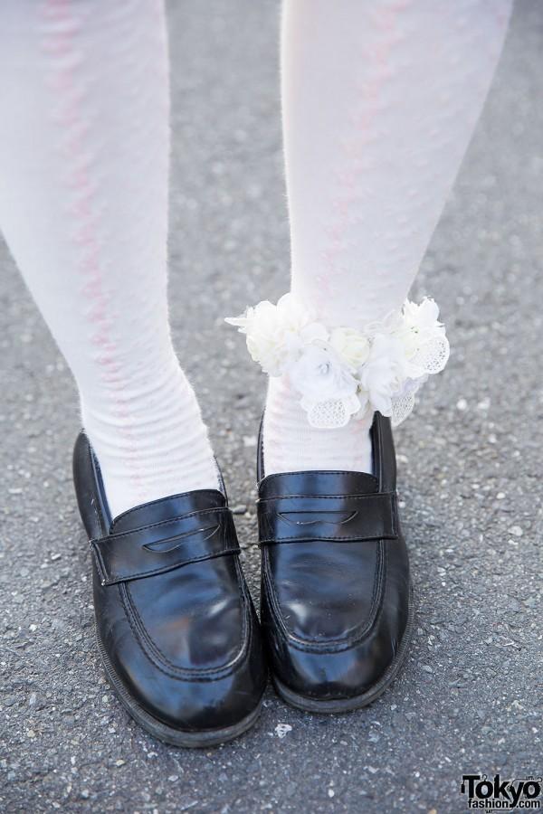 Knee Socks & Loafers in Harajuku