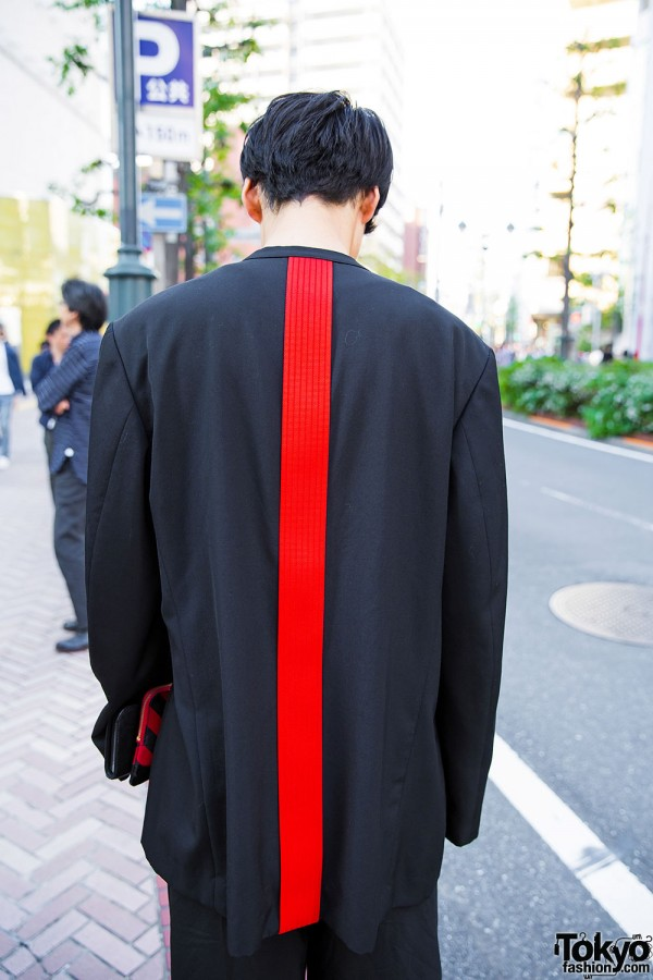 Yohji Yamamoto Blazer with Red Stripe