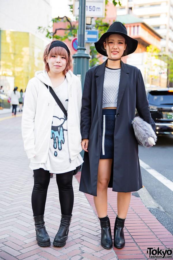 Shibuya Girls in Quilted Crop Top, Monomania, UNIF, Emoda & Shelter