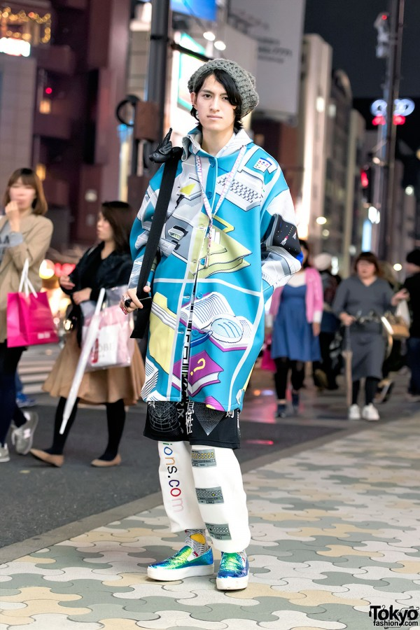 Tyakasha Windows Explorer Jacket, WIA, Blonde Cigarettes & Joshua Sanders in Harajuku