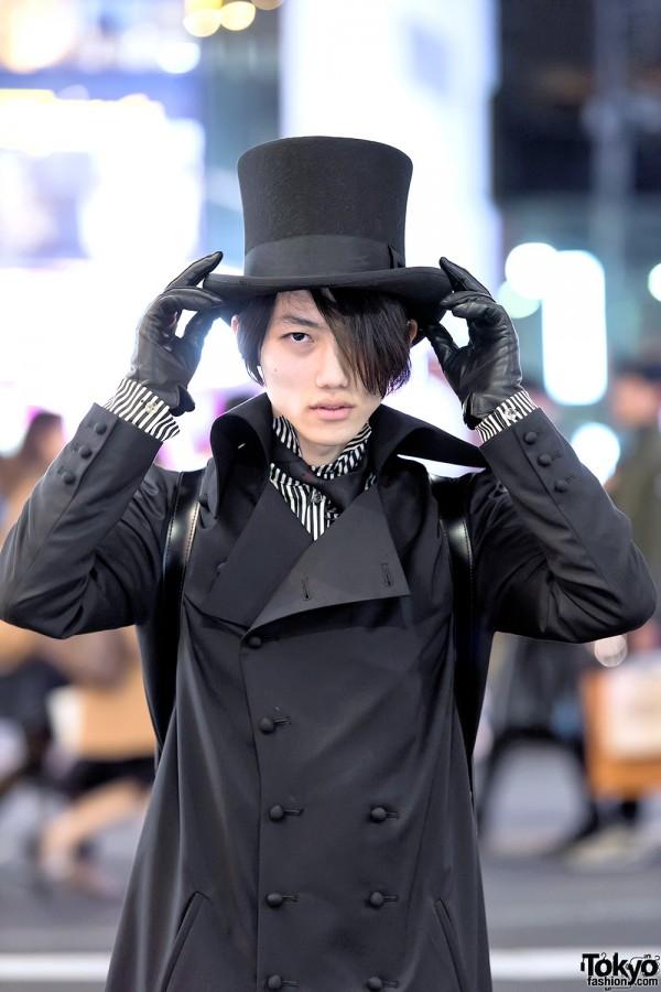 Harajuku Guy in Top Hat & Overcoat