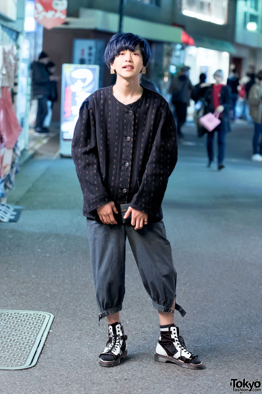 Harajuku Guy In Comme Des Garcons Raf Simons Amp Saint Laurent