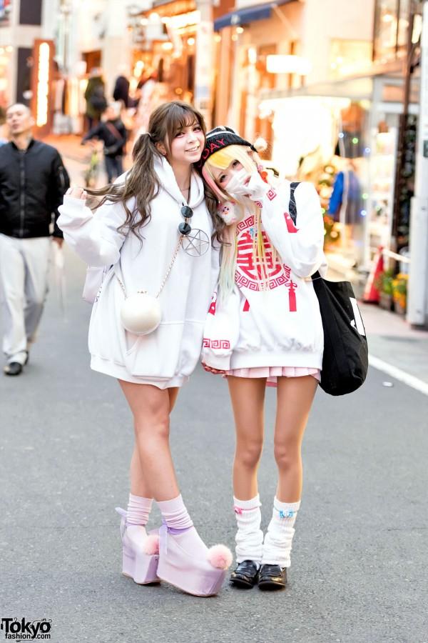 Harajuku Girls W Twintails Oversized Sweatshirts Loose