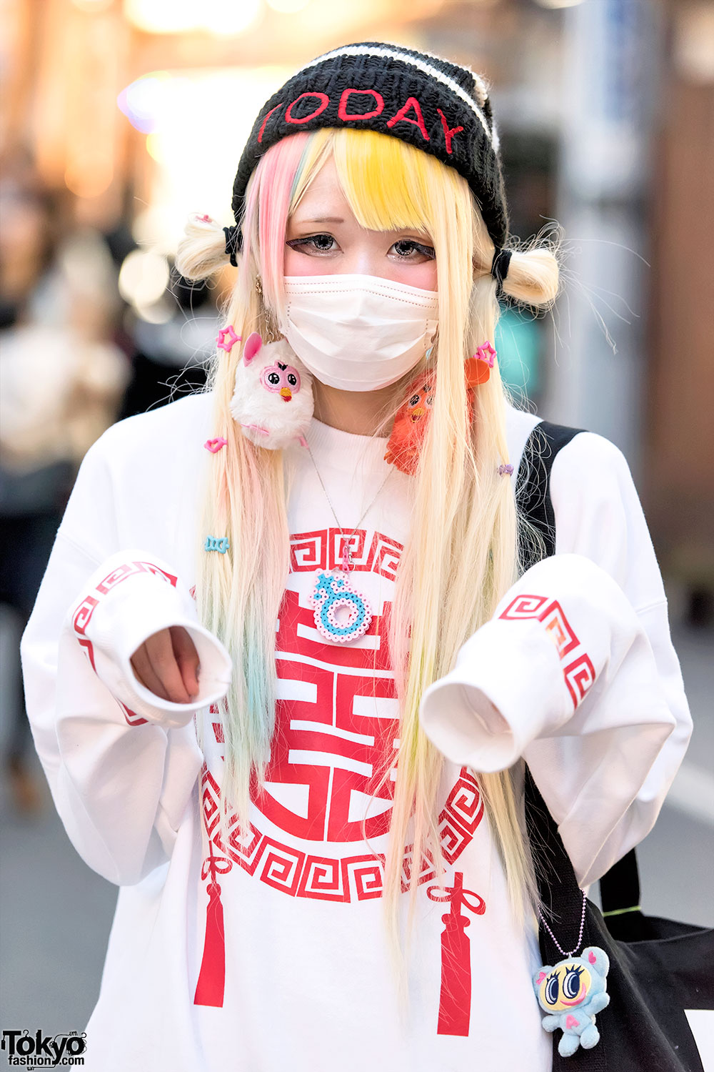 Harajuku Girls W Twintails Oversized Sweatshirts Loose