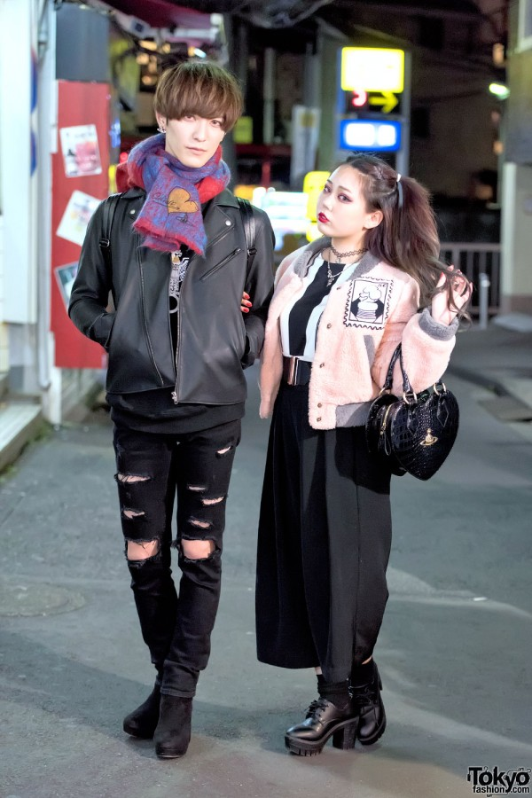 Harajuku Couple in Vivienne Westwood Street Fashion