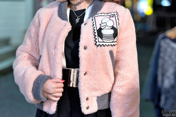 Pameo Pose Pink Faux Fur Jacket