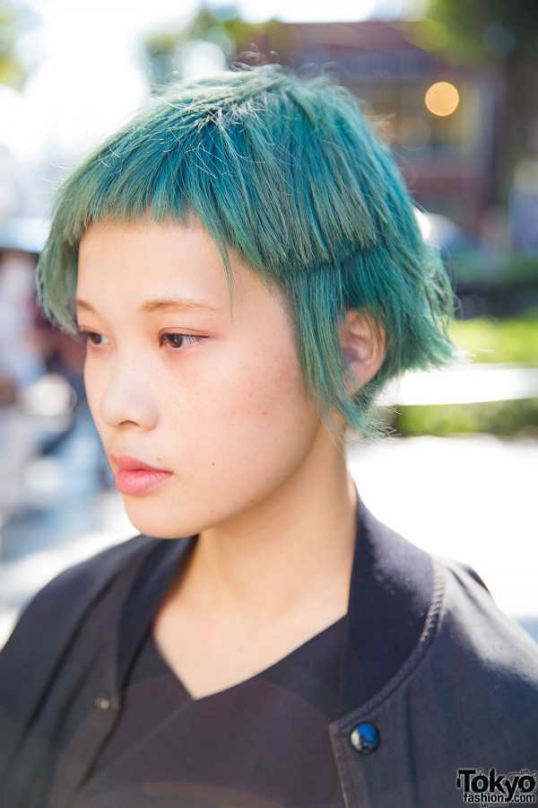 Short Green Harajuku Hairstyle