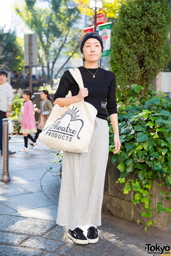 Harajuku Girl in Theatre Products w/ Beams Skirt & Superga Sneakers
