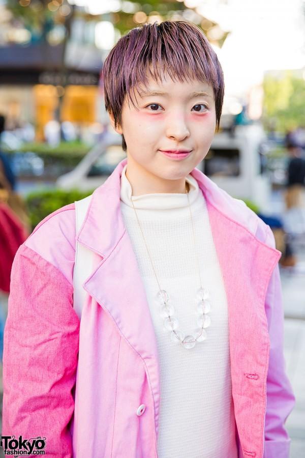 Harajuku Girl W Pink Hair In Tokyo Bopper Pink House