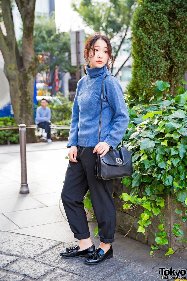 Harajuku Girl in Maison Margiela Sweater, American Apparel, Christian Dior & Resale Fashion