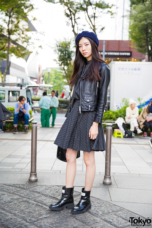 Japanese Model in Comme des Garcons Dress