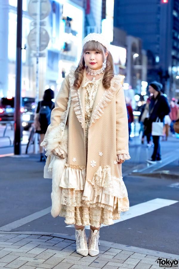 Vintage Loving Harajuku Girl w/ Priere Coat, Kinji Dress & Freaks Circus