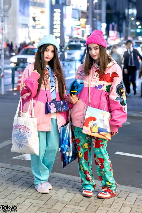 Disney Princess Bomber Jackets, Colorful Fashion & Cute Accessories in Harajuku