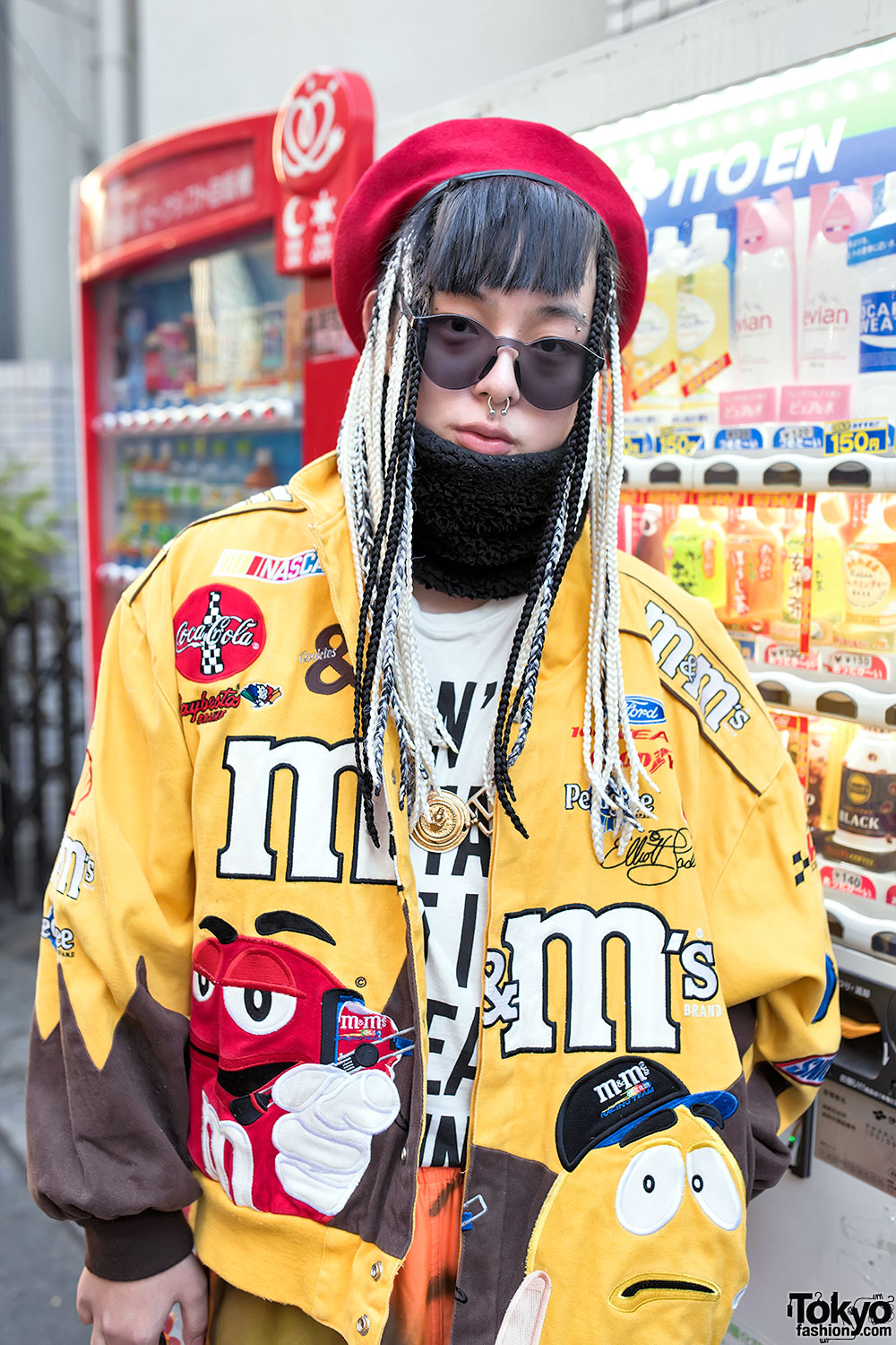 Dog Harajuku Fashion Fangophilia Rings Myob Nyc Bag: Harajuku Guy In M&M's Bomber Jacket, Thrift Store