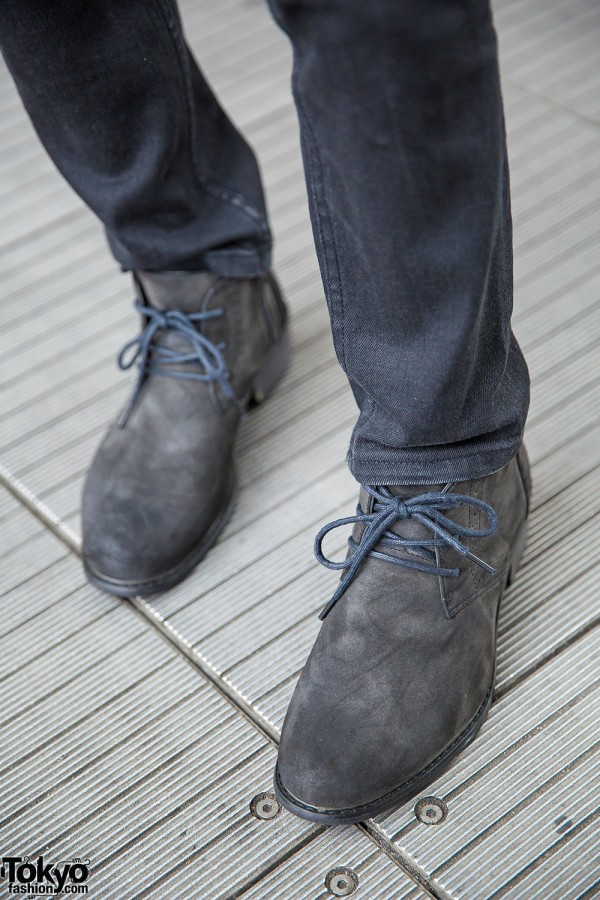 Shoes with Blue Laces