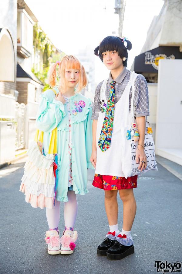 Harajuku Duo in Twin Tails w/ New York Joe Exchange, San-biki no Koneko, Creamy Mami, Ribbons & Bows