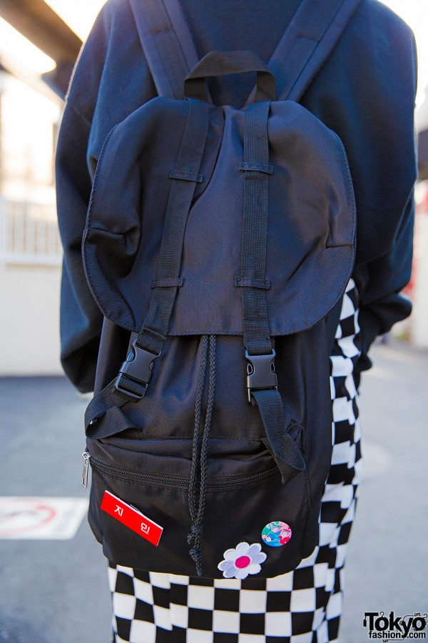 WEGO Backpack Decorated With Badges