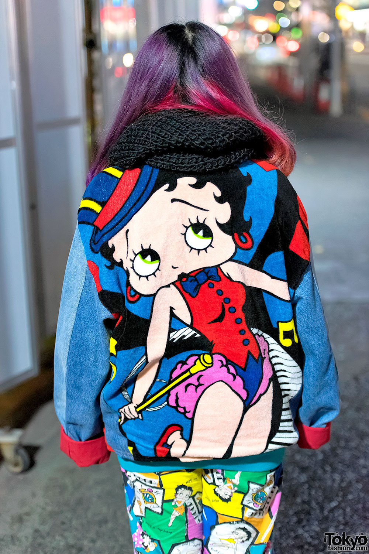 Harajuku Girls In Colorful Street Styles W Betty Boop