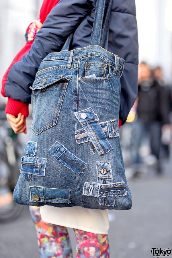Denim Jeans Purse