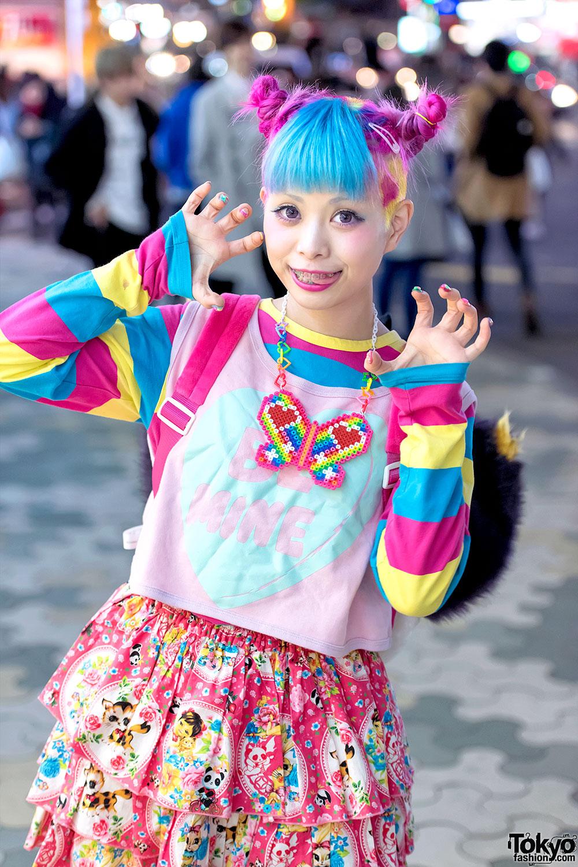 Haruka Kurebayashi Amp Junnyan S Colorful Harajuku Street