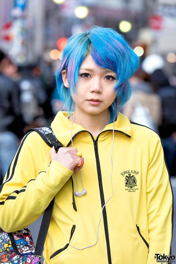 Harajuku Girl W Blue Hair Sexy Dynamite London Super