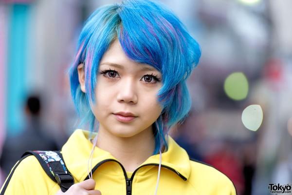 Blue Harajuku Hairstyle