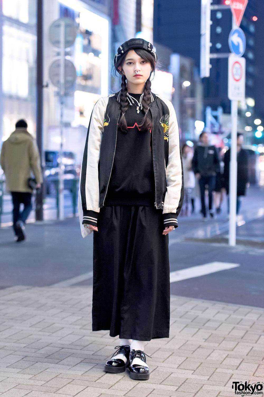 Japanese Sukajan Jacket, MYOB Hat & DVMVGE Septum Ring In