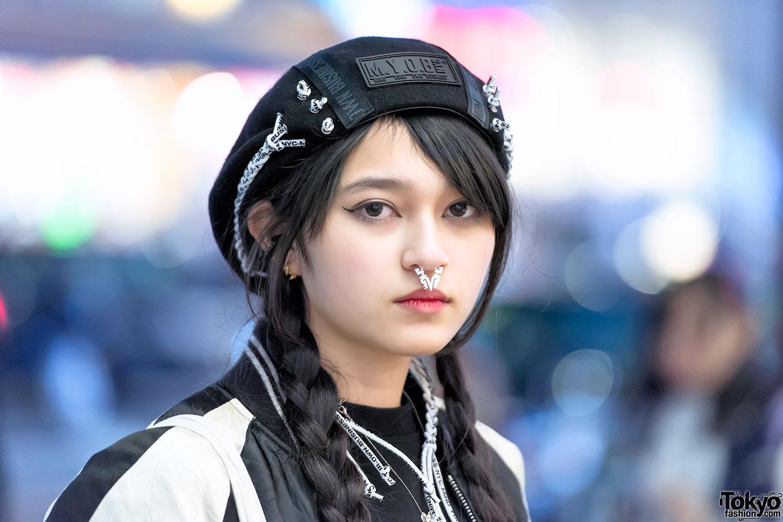 Japanese Sukajan Jacket, MYOB Hat & DVMVGE Septum Ring in ...