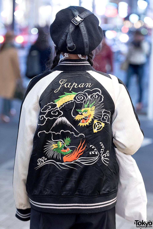 Japanese Sukajan Jacket Myob Hat Amp Dvmvge Septum Ring In
