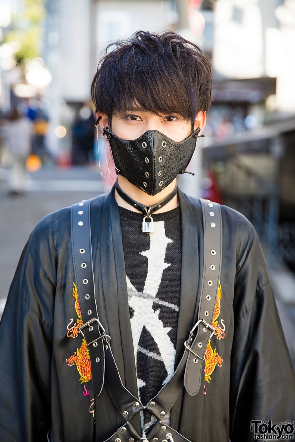 Dragon Kimono Coat Mask Devilish Harness Amp Milk Boy In